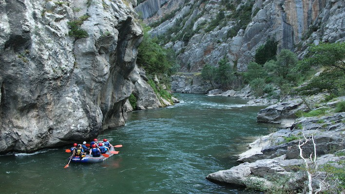 Rafting Arboló - Collegats / 14 Km<br /><strong>14:45h (+ 6 años) <strong class='extra_info_articulo'>- desde 45.00 €  / persona  </strong></strong>